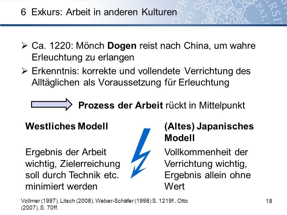 Ca. 1220: Mönch Dogen reist nach China, um wahre Erleuchtung zu erlangen Erkenntnis: korrekte und vollendete Verrichtung des Alltäglichen als Vorausse