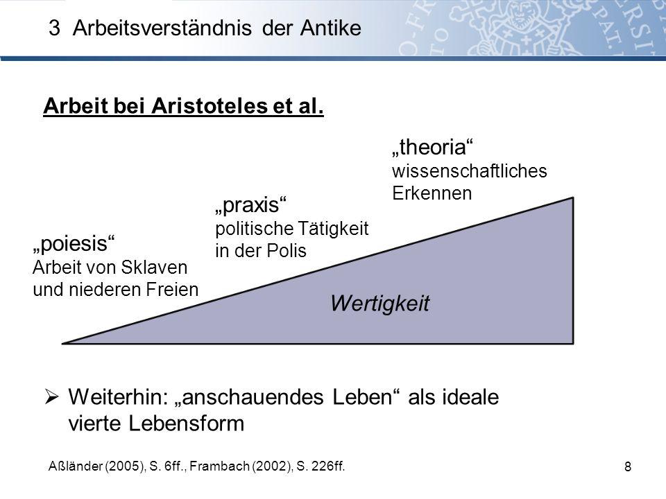 Arbeit bei Aristoteles et al.