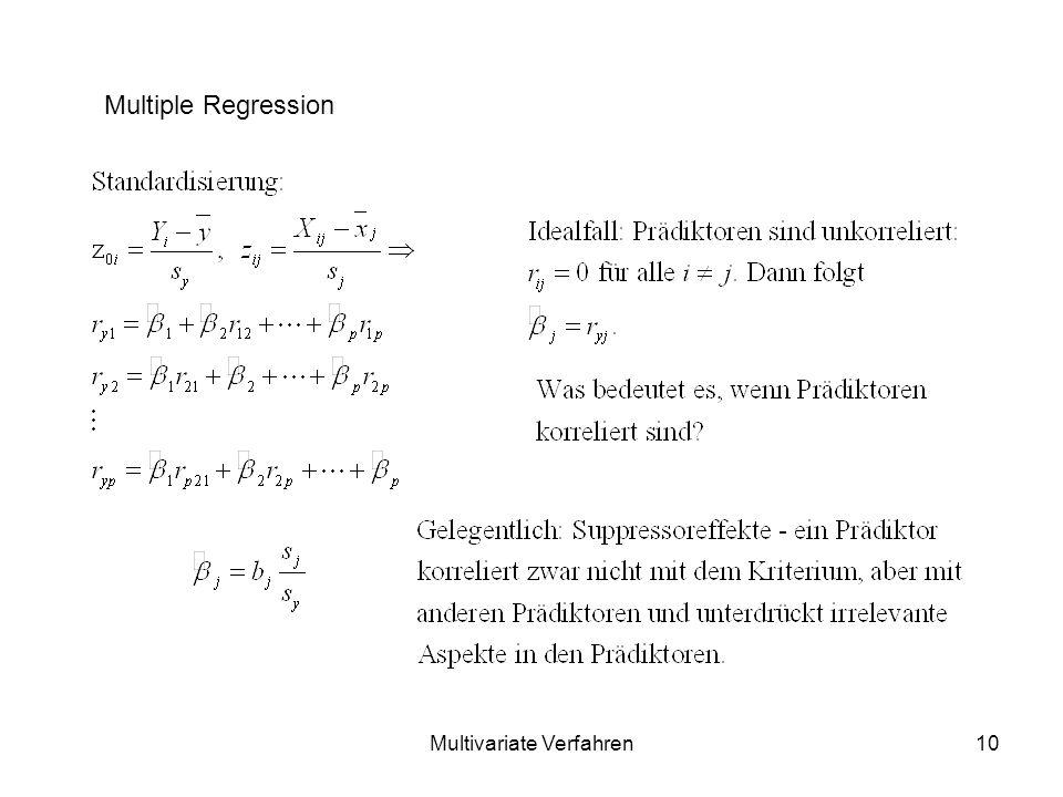Multivariate Verfahren10 Multiple Regression