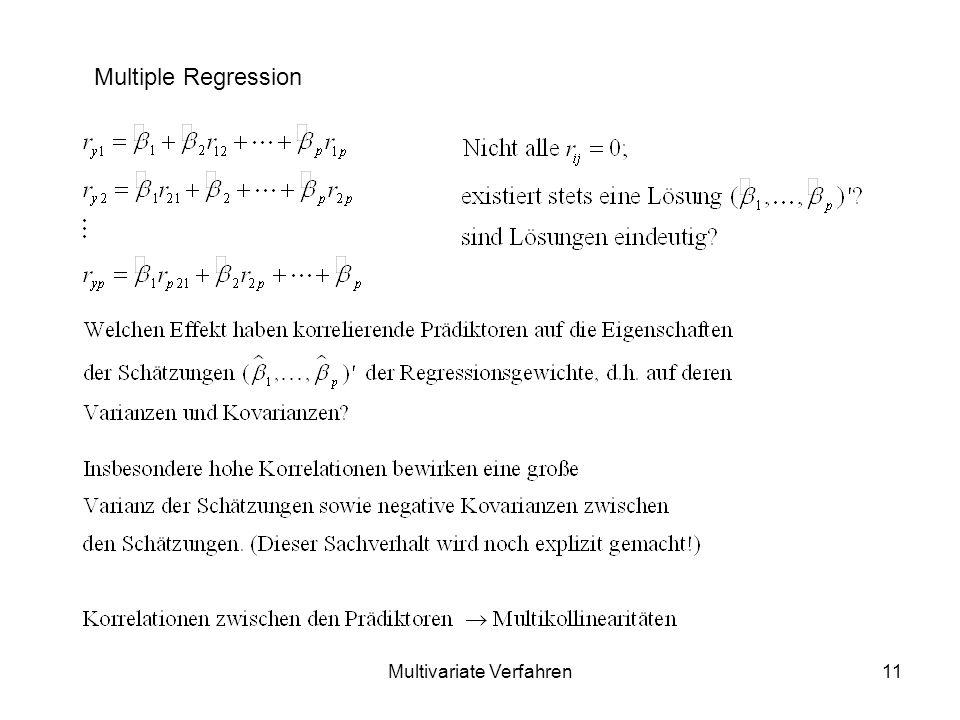 Multivariate Verfahren11 Multiple Regression