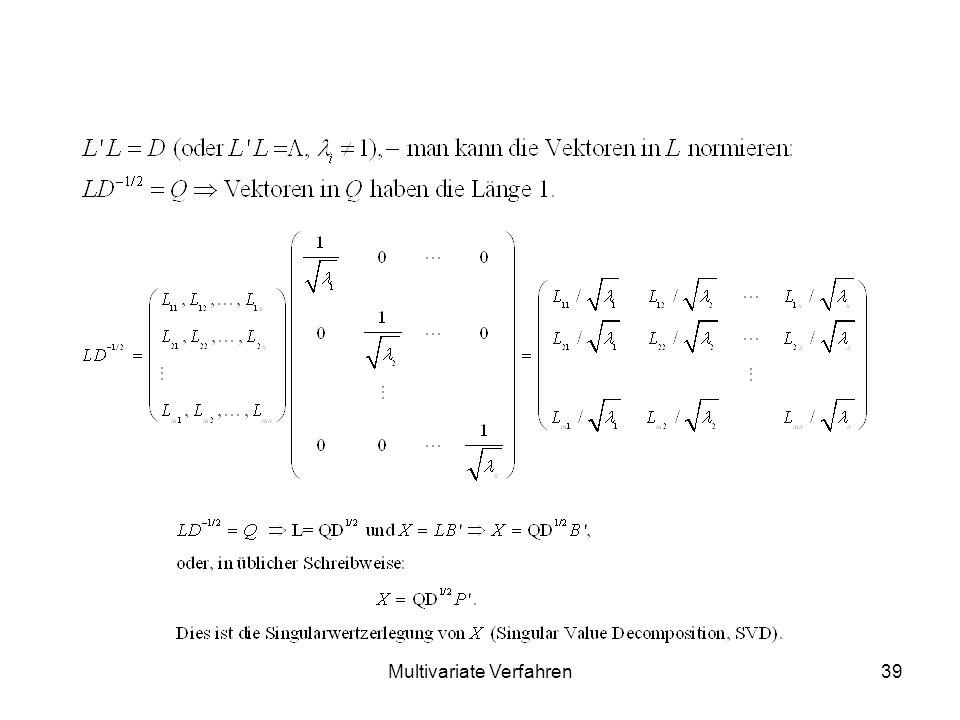Multivariate Verfahren39