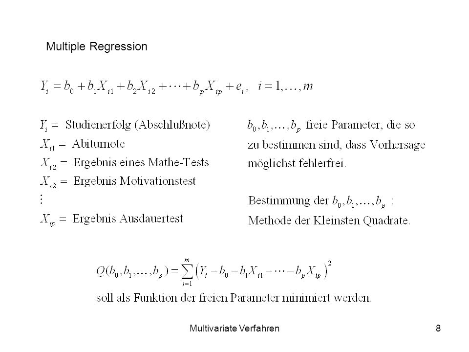 Multivariate Verfahren8 Multiple Regression