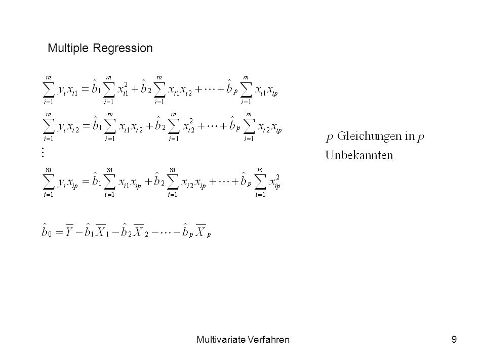 Multivariate Verfahren9 Multiple Regression