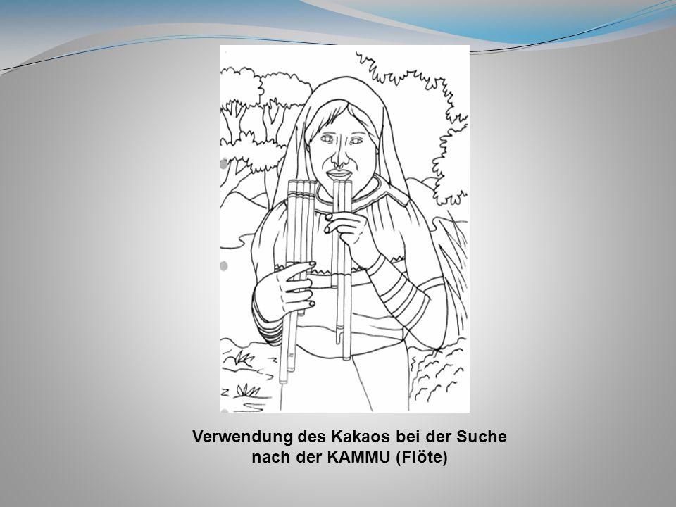 Verwendung des Kakaos bei der Suche nach der KAMMU (Flöte)