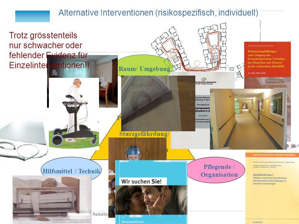 Redu Fix Praxis| Reduktion von Fixierung Hilfsmittel / Technik Raum/ Umgebung Pflegende / Organisation Person mit Demenz und Sturzgefährdung/ fordernd
