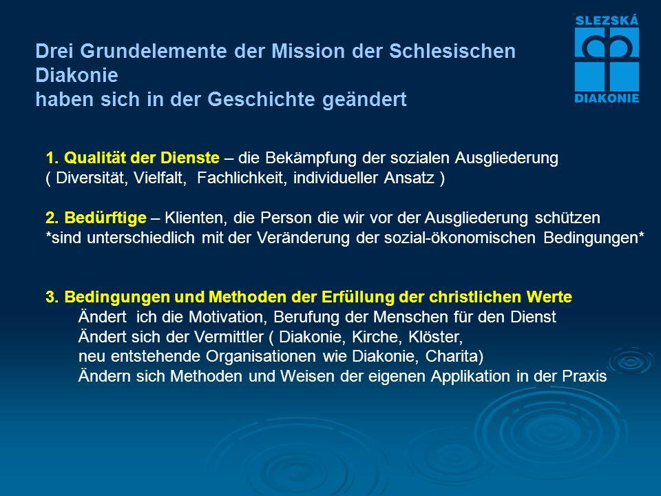 Drei Grundelemente der Mission der Schlesischen Diakonie haben sich in der Geschichte geändert 1.