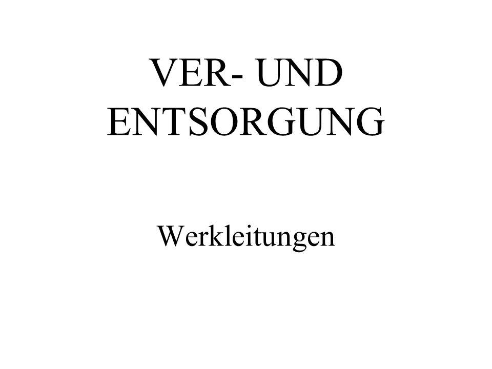 VER- UND ENTSORGUNG Werkleitungen