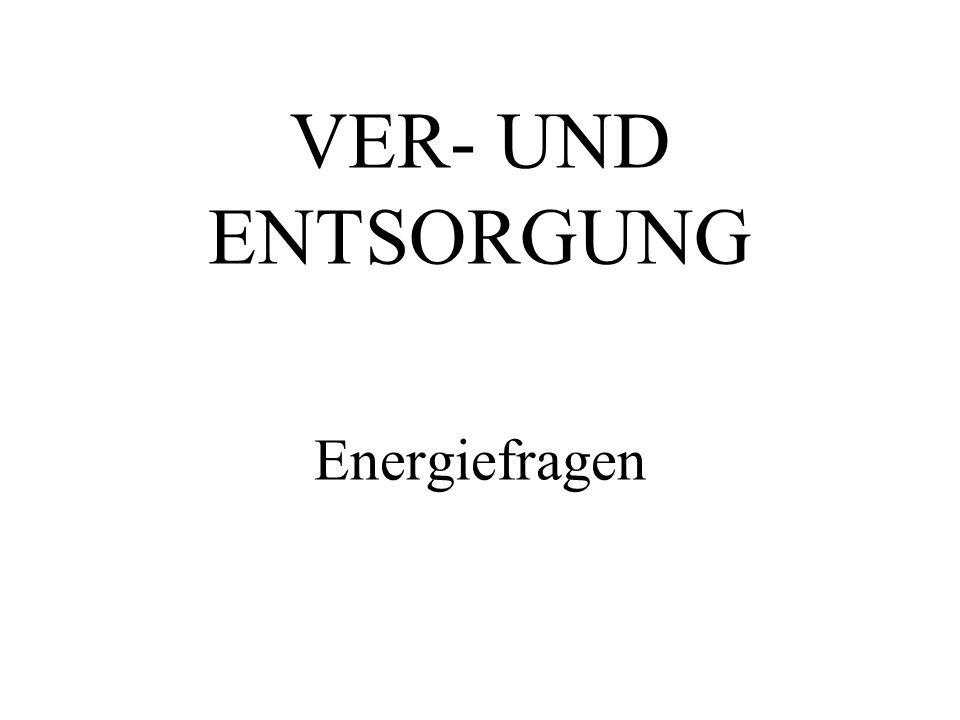 VER- UND ENTSORGUNG Energiefragen