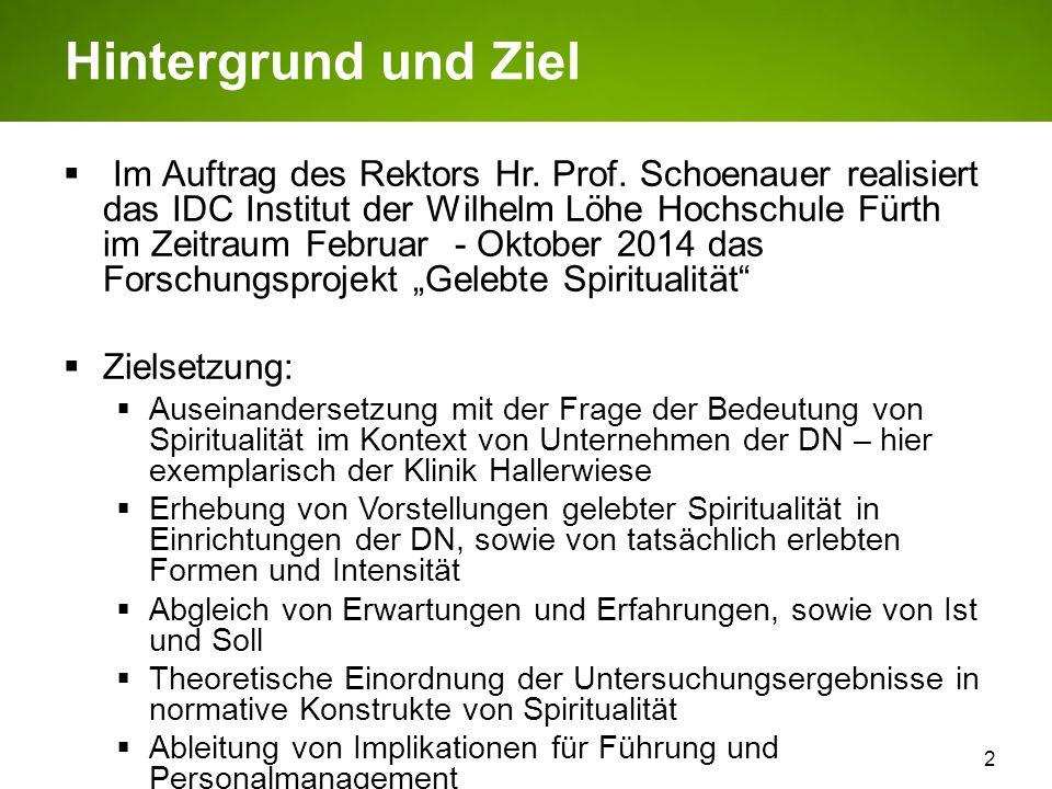 2 Hintergrund und Ziel Im Auftrag des Rektors Hr. Prof. Schoenauer realisiert das IDC Institut der Wilhelm Löhe Hochschule Fürth im Zeitraum Februar -