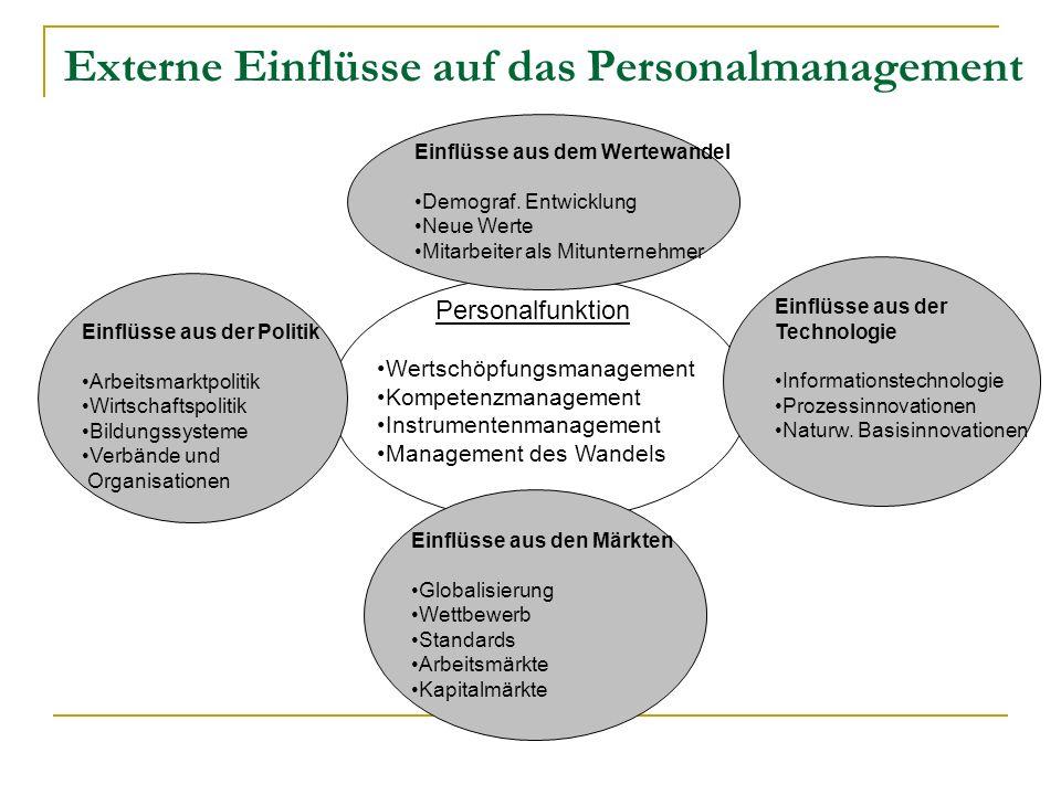 Entwicklung des Personalwesens und PE I.Bürokratisierung (bis ca.