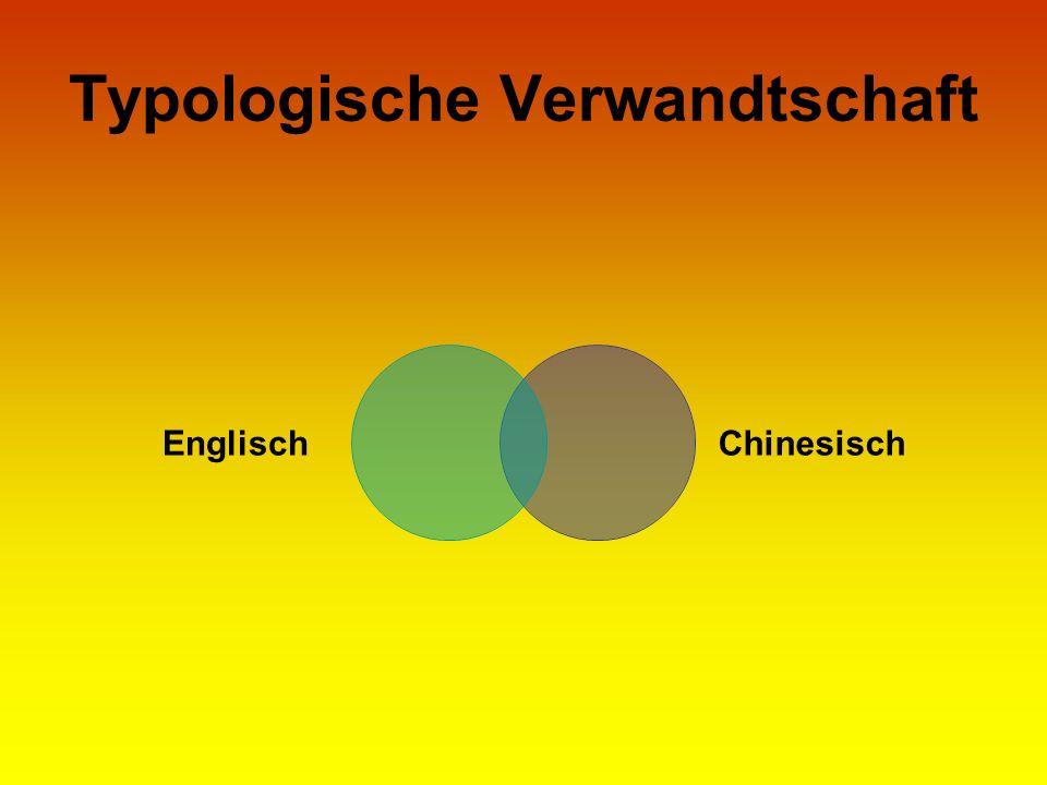 Typologische Verwandtschaft EnglischChinesisch