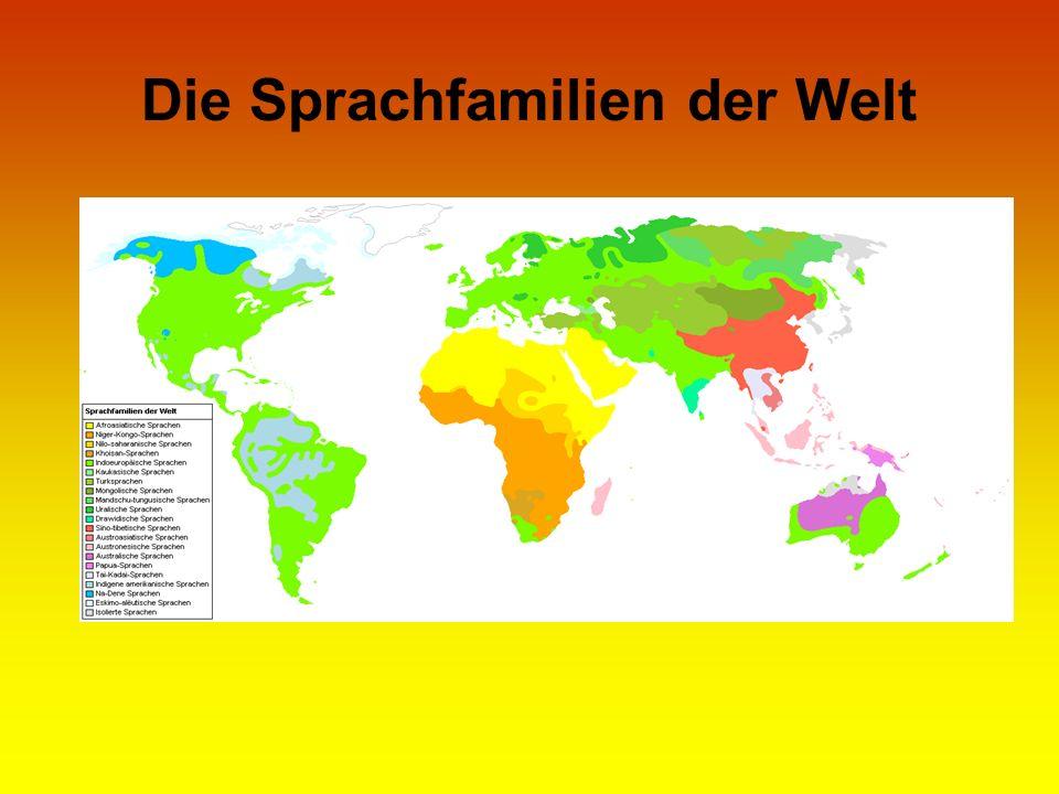Die Sprachfamilien der Welt