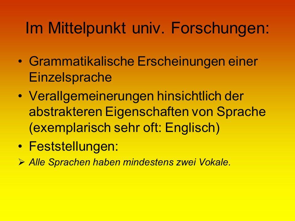 Quellen: Hutterer, C.J.1999. Die germanischen Sprachen.