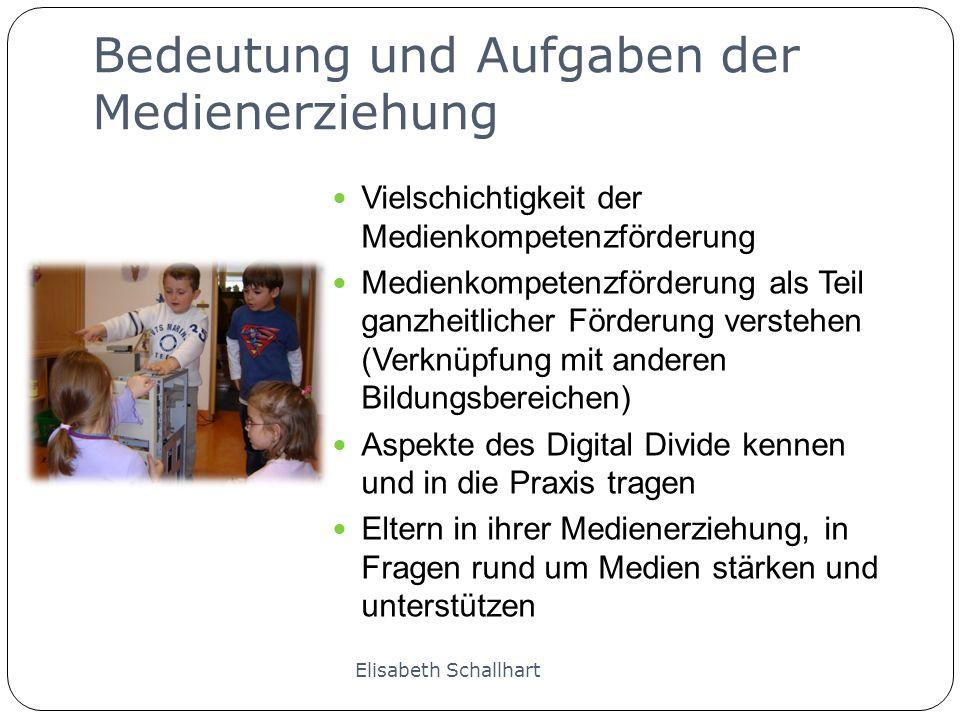 Beispiele Wahrnehmungsspiel: Didacta 2009 Geeignete Spiele aus dem Internet erkunden: Marmeladenrennen Koffer packen Geräusche Memory einen Avatar erstellen: http://doppelme.com/ http://doppelme.com/ Spaßbilder erstellen Elisabeth Schallhart