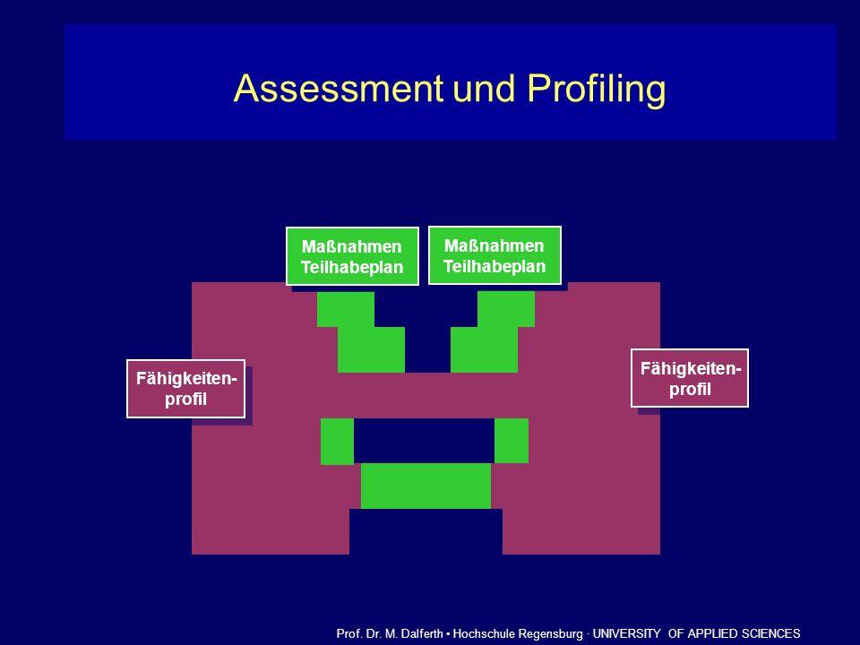 Anforderungsprofil eines Berufs Anforderungsprofil eines Berufs Fähigkeiten- profil Fähigkeiten- profil Assessment und Profiling Prof. Dr. M. Dalferth