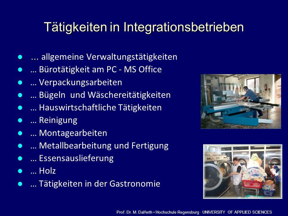 Tätigkeiten in Integrationsbetrieben...... allgemeine Verwaltungstätigkeiten … Bürotätigkeit am PC - MS Office … Verpackungsarbeiten … Bügeln und Wäsc