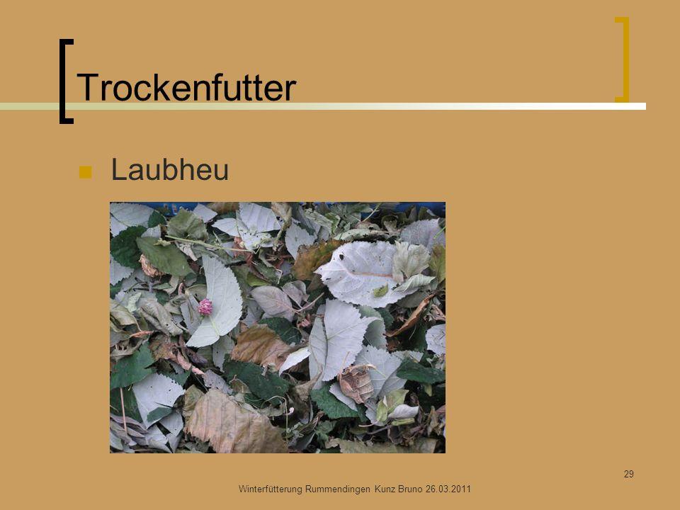Trockenfutter Laubheu Winterfütterung Rummendingen Kunz Bruno 26.03.2011 29