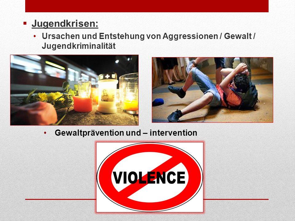 Jugendkrisen: Ursachen und Entstehung von Aggressionen / Gewalt / Jugendkriminalität Gewaltprävention und – intervention