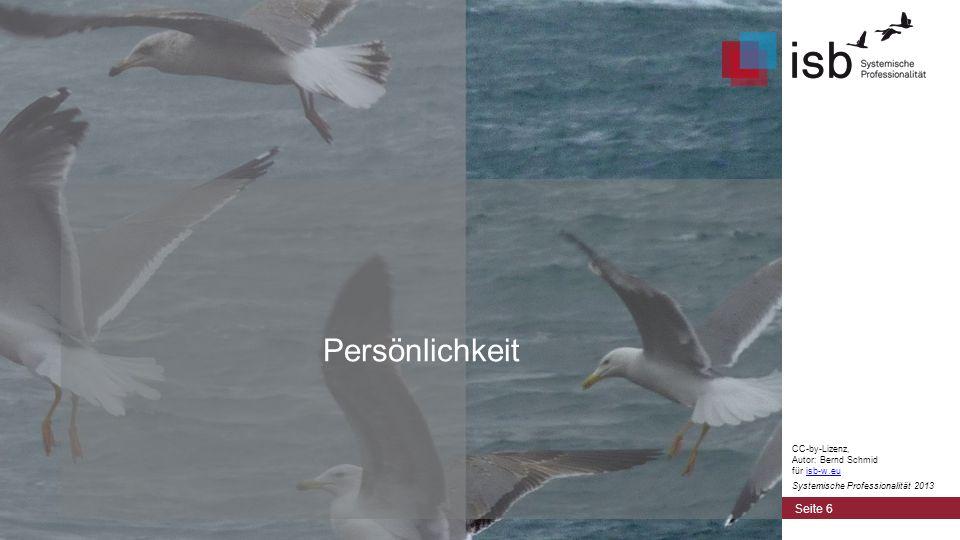 Das Drei-Welten-Modell der Persönlichkeit Seite 7 CC-by-Lizenz, Autor: Bernd Schmid für isb-w.euisb-w.eu Systemische Professionalität 2013