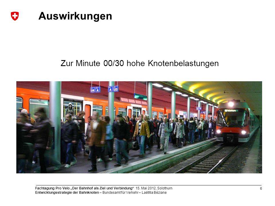 6 Fachtagung Pro Velo Der Bahnhof als Ziel und Verbindung 15.