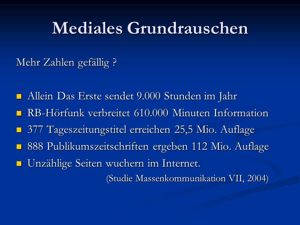 Mediales Grundrauschen Mehr Zahlen gefällig .