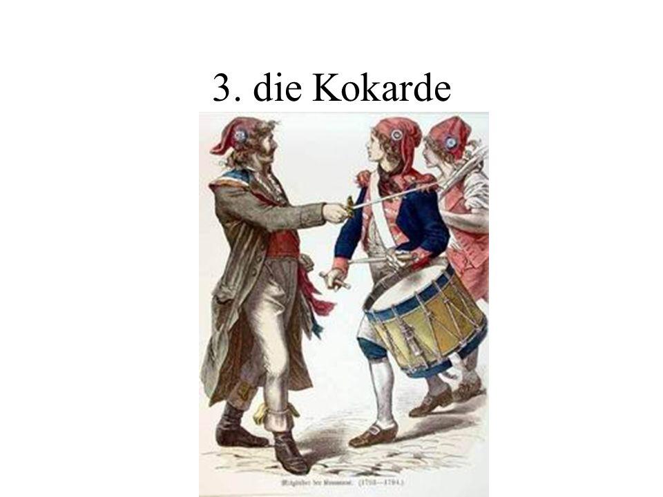 2. die Trikolore Die französische Trikolore mit den Farben blau-weiß-rot entstand während der französischen Revolution, als angeblich die Farben der S
