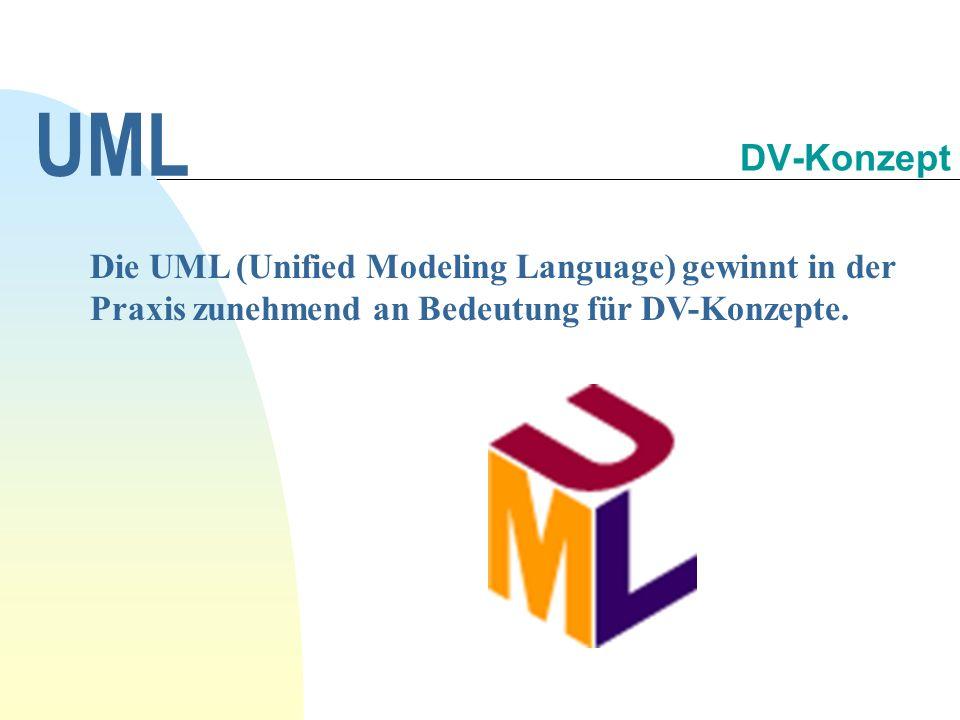 Die UML (Unified Modeling Language) gewinnt in der Praxis zunehmend an Bedeutung für DV-Konzepte. UML DV-Konzept