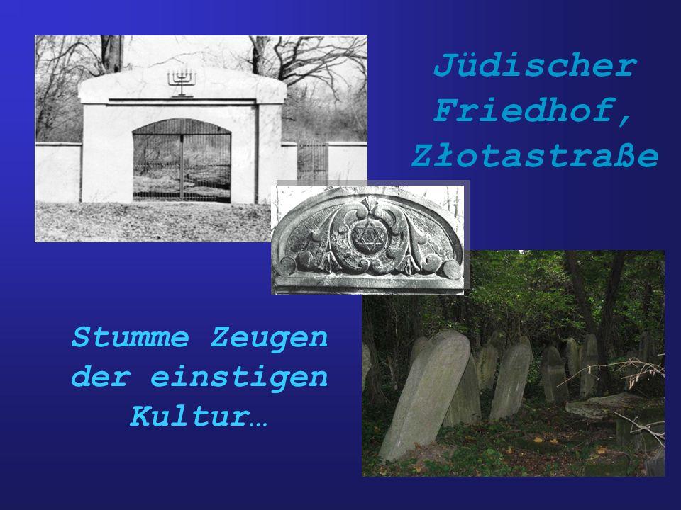 Jüdischer Friedhof, Złotastraße Stumme Zeugen der einstigen Kultur…