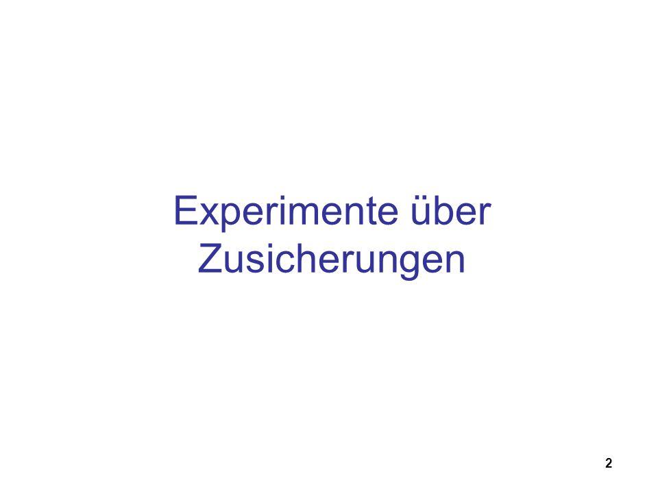 2 Experimente über Zusicherungen