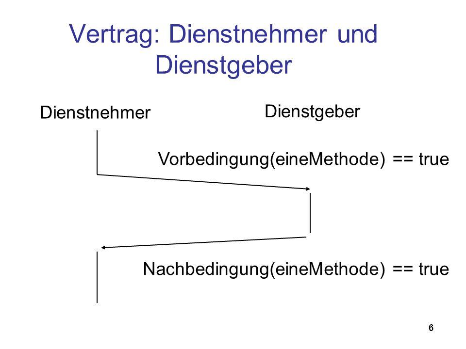 7 Zusicherungen C: assert.h Java 1.4: Zusicherungen in Sprachstandard eingebaut Mitlerweile in jeder Programmiersprache verfügbar
