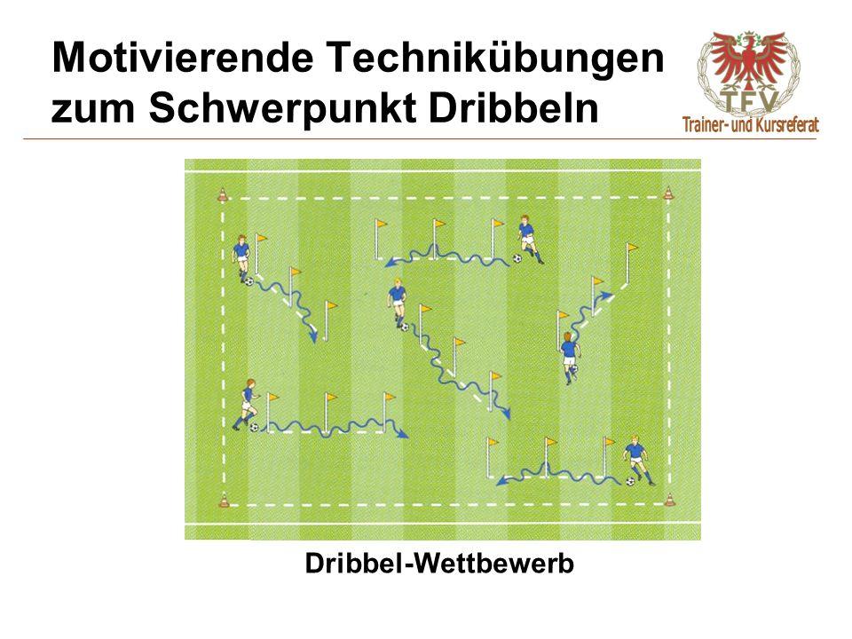 Motivierende Technikübungen zum Schwerpunkt Dribbeln Dribbel-Wettbewerb