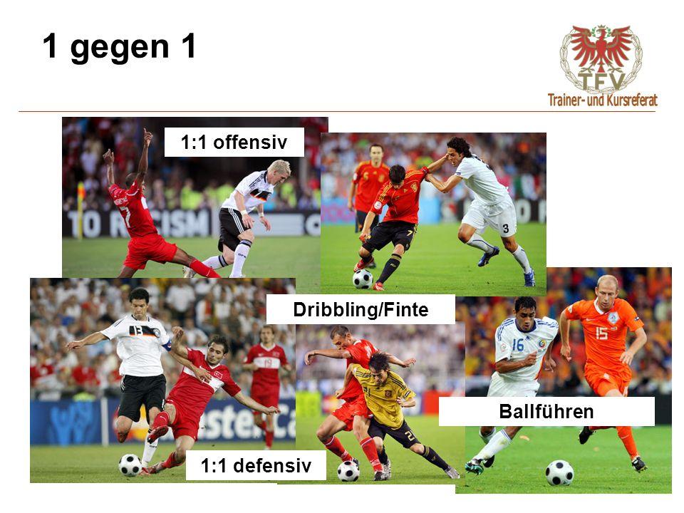 1 gegen 1 1:1 defensiv 1:1 offensiv Dribbling/Finte Ballführen
