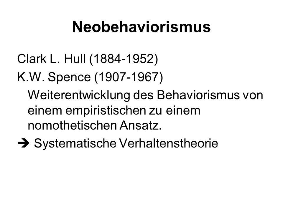 Bedingungen für Lernen bestimmter (motivationaler) Zustand des Organismus (z.B. Hunger) Aktivität des Organismus der Aktivität folgende Konsequenz (Be