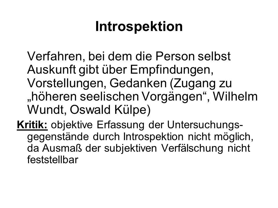 Radikaler Behaviorismus Reaktion der amerikanischen Psychologie auf den Introspektionismus in der deutsch- sprachigen (überwiegend Denk-) Psychologie