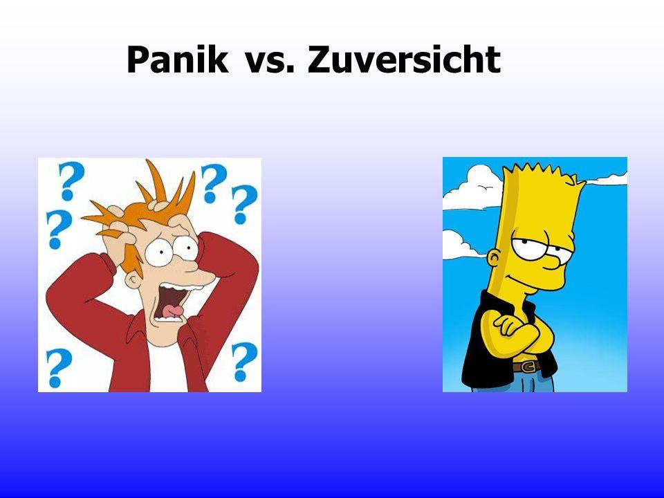 Panik vs. Zuversicht