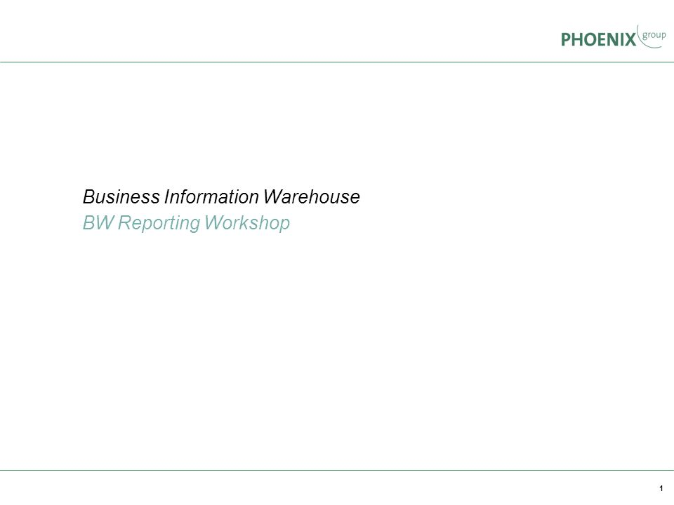 1 Business Information Warehouse BW Reporting Workshop www.unilog-integrata.de