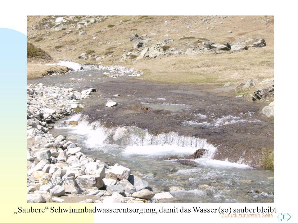 Zurück zur ersten Seite Saubere Schwimmbadwasserentsorgung, damit das Wasser (so) sauber bleibt
