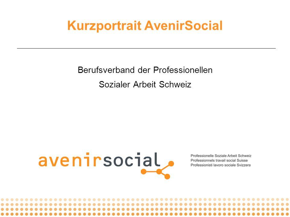 © AvenirSocial _ Portrait _ 2007 _ 2 Informiert engagiert vernetzt Professionelle Soziale Arbeit Schweiz