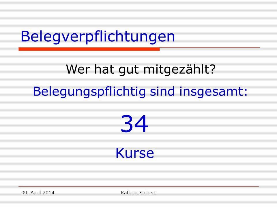 09.April 2014Kathrin Siebert Belegverpflichtungen Wer hat gut mitgezählt.