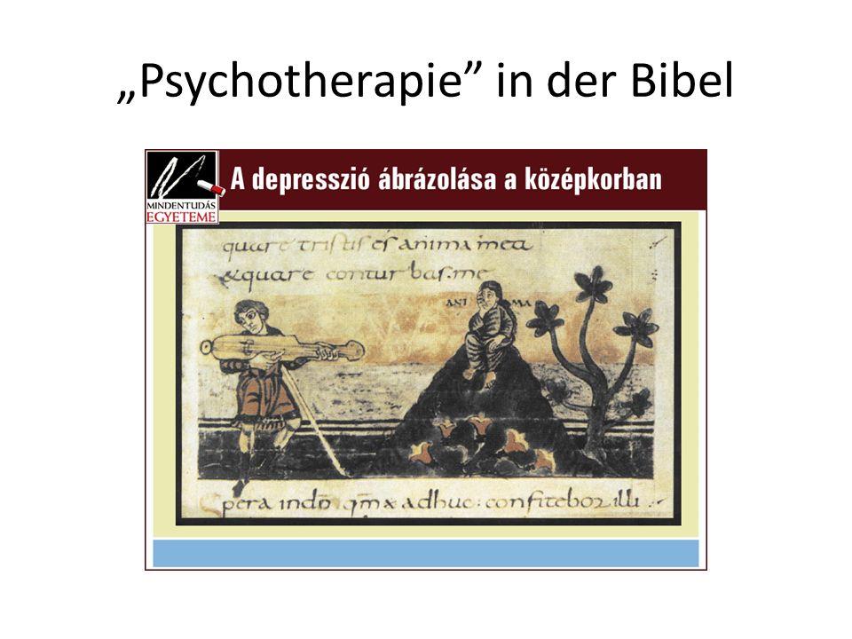 Psychotherapie in der Bibel