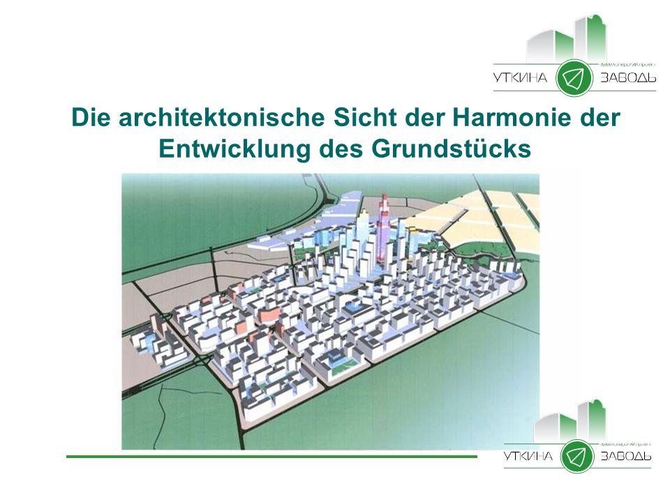 Die architektonische Sicht der Harmonie der Entwicklung des Grundstücks