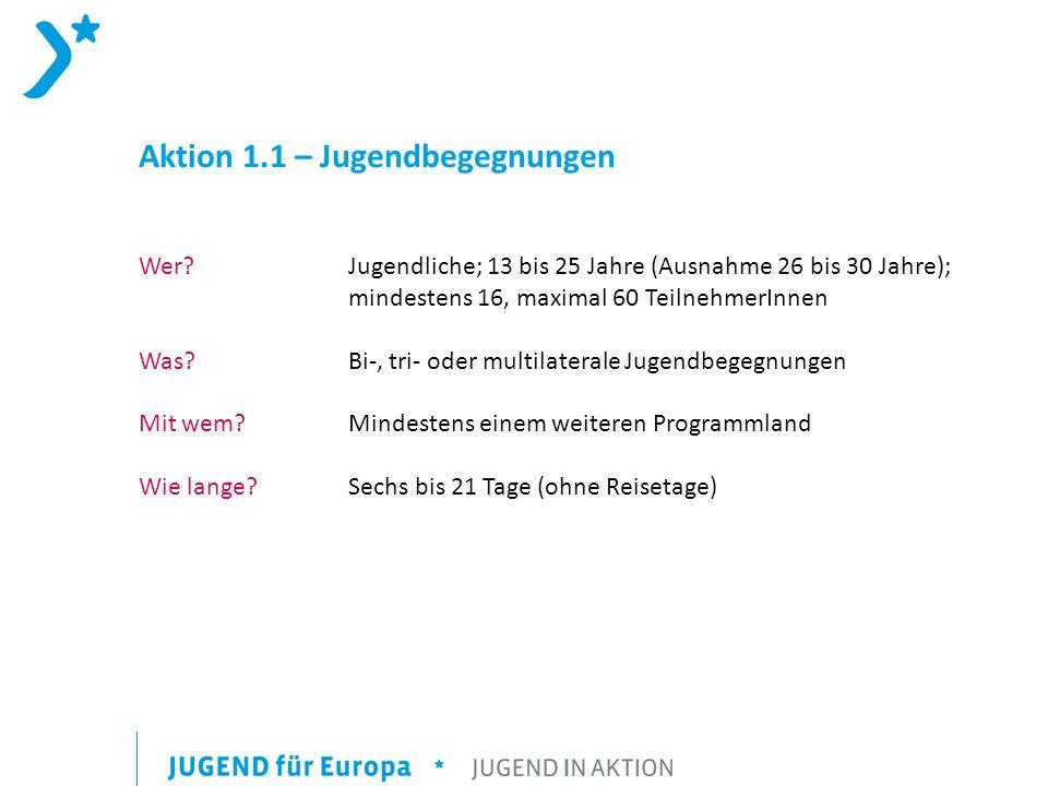 Aktion 1.1 – Jugendbegegnungen Wer.