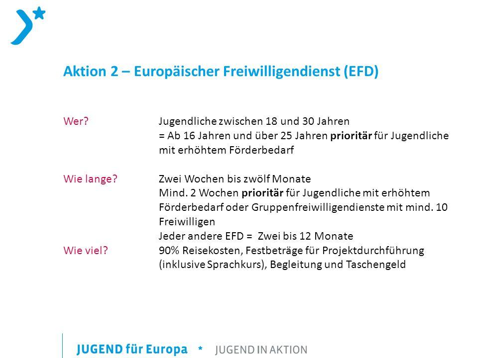 Aktion 2 – Europäischer Freiwilligendienst (EFD) Wer.