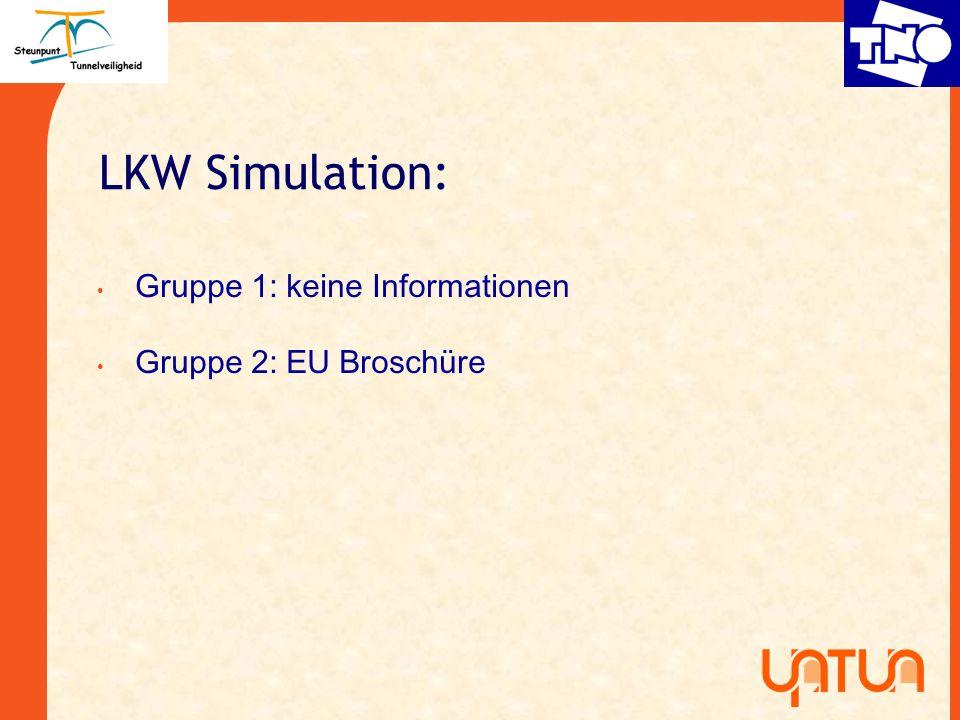 LKW Simulation: Gruppe 1: keine Informationen Gruppe 2: EU Brosch ü re