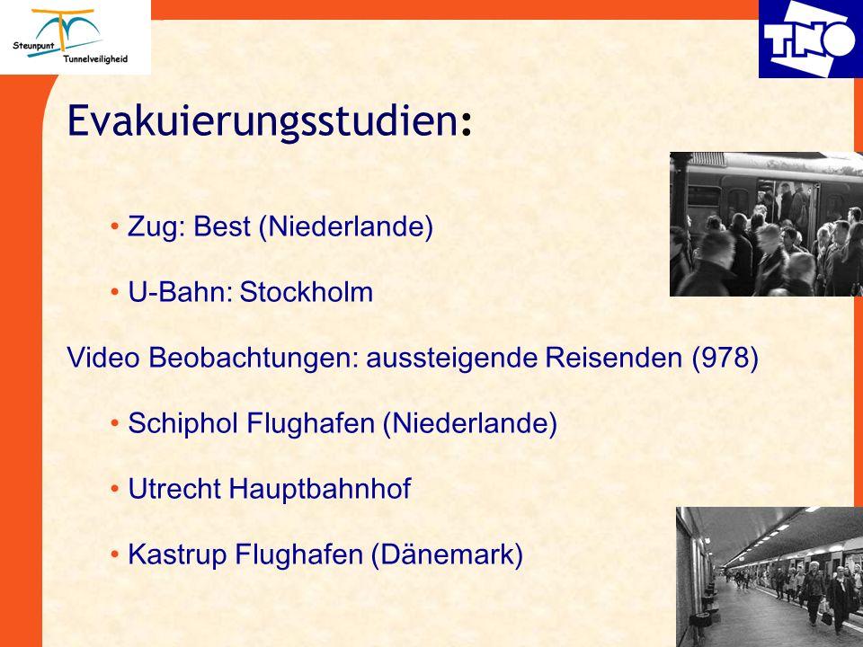 Evakuierungsstudien : Zug: Best (Niederlande) U-Bahn:Stockholm Video Beobachtungen: aussteigende Reisenden (978) Schiphol Flughafen (Niederlande) Utre