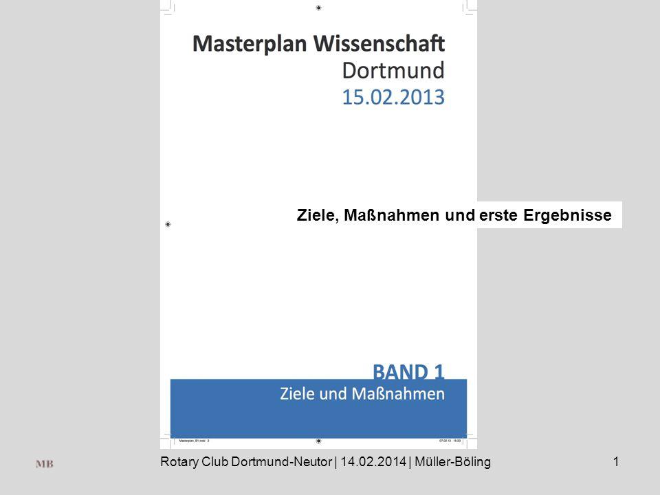 Rotary Club Dortmund-Neutor | 14.02.2014 | Müller-Böling1 Ziele, Maßnahmen und erste Ergebnisse