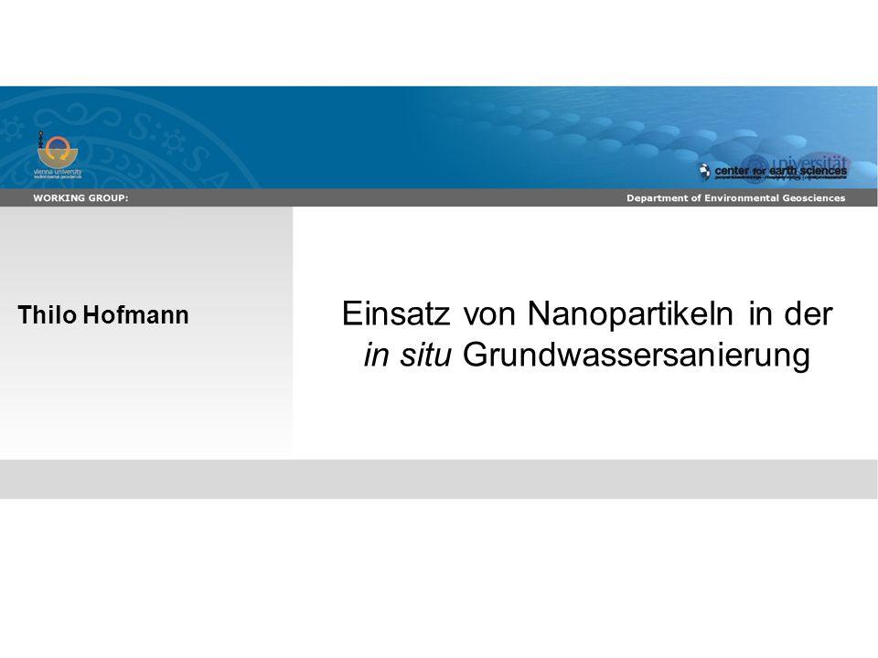 Effekte und Verhalten von TiO 2 Nanopartikeln in der aquatischen Umwelt 2 Boden- und Grundwasserkontaminationen ~3 Millionen potentiell kontaminierte Flächen in Europa davon nur ~81,000 saniert (European Environment Agency, 2007) http://soer.justice.tas.gov.au