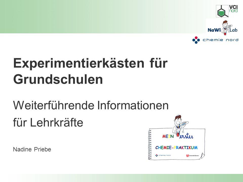 Experimentierkästen für Grundschulen Weiterführende Informationen für Lehrkräfte Nadine Priebe