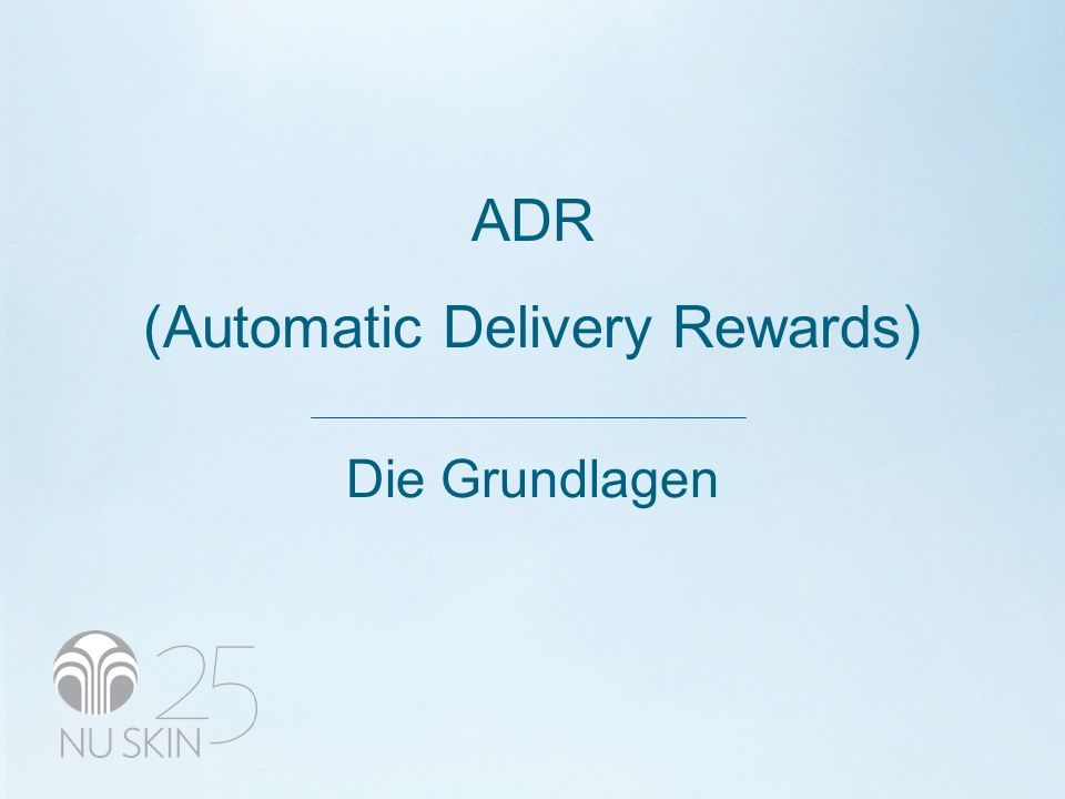ADR (Automatic Delivery Rewards) Die Grundlagen