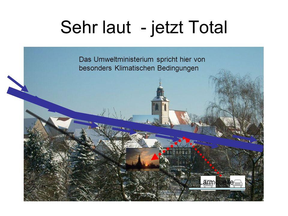 Sehr laut - jetzt Total Lärmquelle Das Umweltministerium spricht hier von besonders Klimatischen Bedingungen